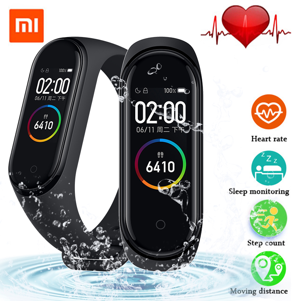 In stock 2019 Newest Original Xiaomi Mi Band 4 Smart Wristband Global version Heart Rate Fitness