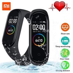 2019 orijinal Xiao mi mi bant 4 akıllı bileklik 3 renkli AMOLED ekran mi bant 4 küresel sürüm kalp hızı spor müzik bilezik