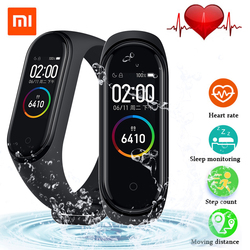 En stock! 2019 lo más nuevo Original Xiaomi mi Band 4 pulsera inteligente versión Global ritmo cardíaco Fitness tiempo de música Bluetooth 5,0 135 mAh