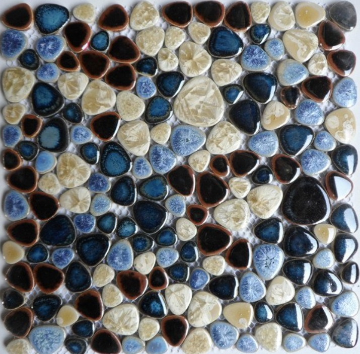 Hot ceramic pebble mosaic tile kitchen backsplash wallpaper bathroom swimming pool wall tiles shower fireplace TV backgroud