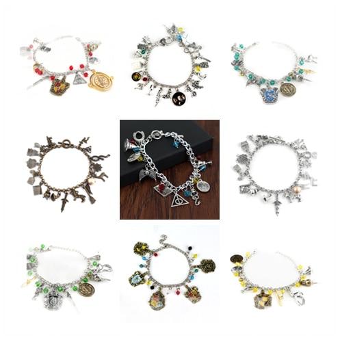 Jewellery Bracelet Pendants Charm-Bead Harri Potter Silver-Plated Combination Toy Gifts