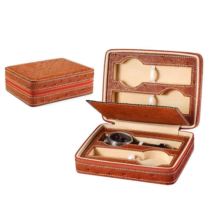 Hohe qualität gewohnheit logo uhr strap verpackung leder geschenk boxen 4 uhren box-in Uhrenboxen aus Uhren bei  Gruppe 3
