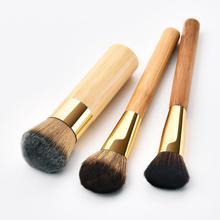 3pcs Bamboo Handle Soft Hair Makeup Brushes Foundation Loose Powder Eyeshadow Make up Cosmetic