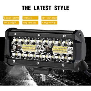 Image 5 - Bộ 2 Đèn LED Thanh 7 Inch LED Bar 3 Hàng Công Việc Nhẹ Combo Xà Đơn Cho Lái Xe Offroad Thuyền Xe Ô Tô máy Kéo Xe 4X4 SUV 12V 24V
