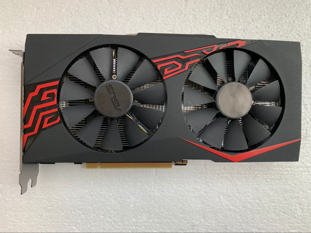 Used original For Asus RX570 O4G Graphics Cards 256Bit GDDR5 PCI Express 3.0 16X AMD Radeon RX 570 4G Graphics