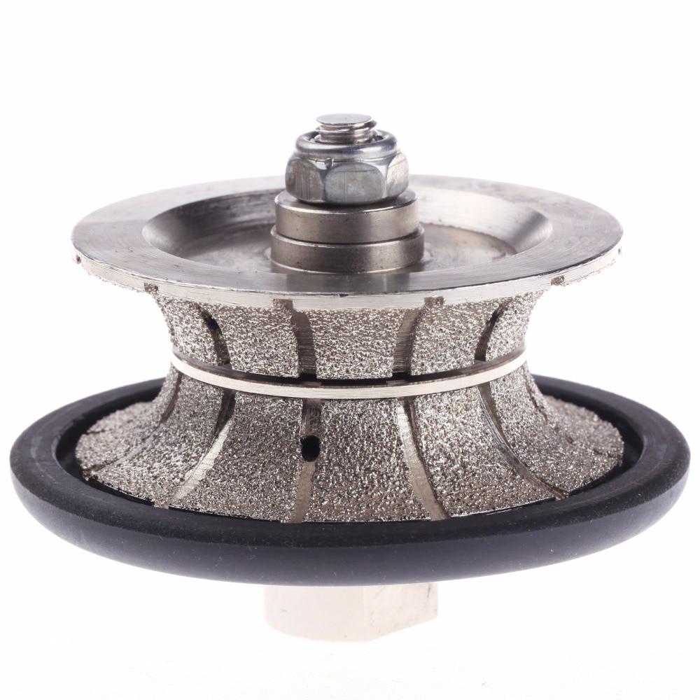 цена на ZFE 1Pc Full Bullnose Vacuum Brazed Diamond Profile Wheel & Female Threads For M14 Wet Polisher Angle Grinder