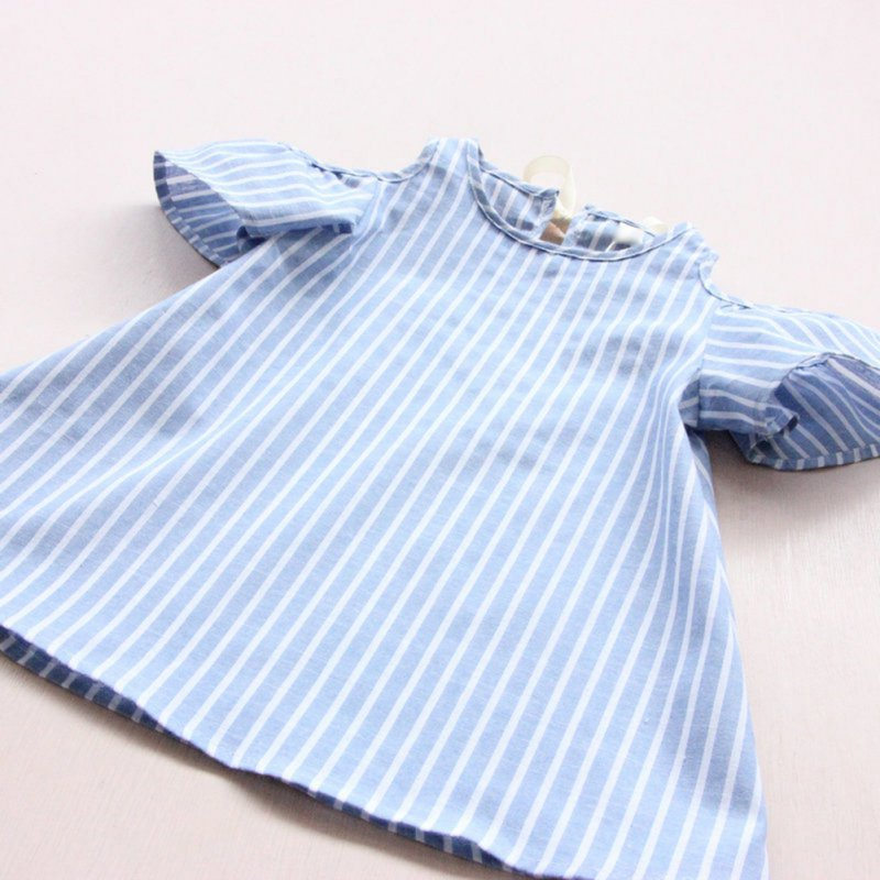 Newest-Kids-Girl-Princess-Dress-Summer-Striped-Short-Sleeve-Mini-Dresses-Infantil-Children-Vestidos-3