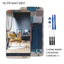 Original AMOLED สำหรับ ZTE AXON 7 จอแสดงผล LCD A2017 A2017U A2017G Touch Screen Digitizer Aseembly สำหรับ ZTE A2017 Axon7 LCD จอแสดงผล