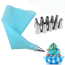 8/18PCS/lot Silicone Kitchen Accessories Icing Piping Cream Pastry Bag Stainless Steel Nozzle Set DIY Cake Decorating Tips