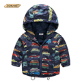 2017 Autumn New Children Jacket For Boys Print Cars Baby Boys Outerwear & Coats 2-10 Years Kids Waterproof Windbreaker Clothes