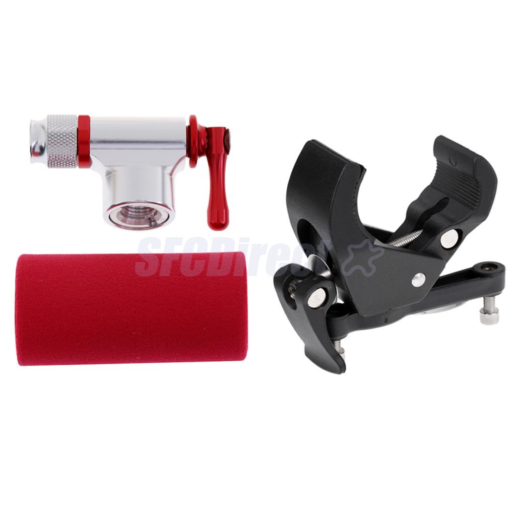 CO2 Inflator Bike Water Bottle Cage Holder Clamp Handlebar//Seat Post Mount
