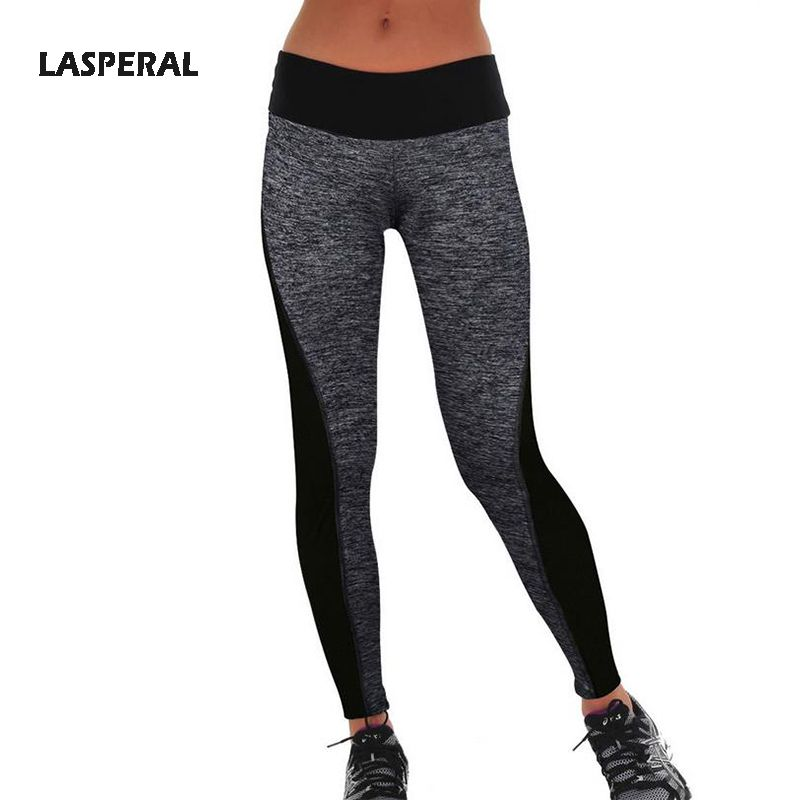 LASPERAL Women Leggings High Waist Elastic Active Leggins Patchwork Pants Sexy Workout Fitness Leggings Plus Size Transparent