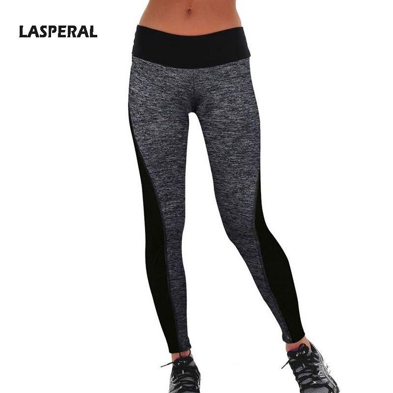 LASPERAL Women Leggings High Waist Elastic Active Leggins Patchwork Pants Sexy Workout Fitness Leggings Plus Size Transparent