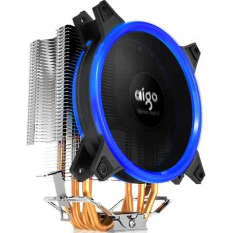 Aigo E3 وحدة معالجة خارجية للحاسوب وحدة المعالجة المركزية برودة المبرد الألومنيوم 12 فولت المعالج برودة 4 أنابيب الحرارة وحدة المعالجة المركزية مسند تبريد للاب توب مدمج به مكبر صوت مروحة إنتل AM2/AM3/AM4