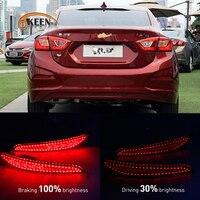 OKEEN 2PCS Car Styling LED Rear Bumper Reflector Light For Chevrolet Cruze LED DRL Auto Brake