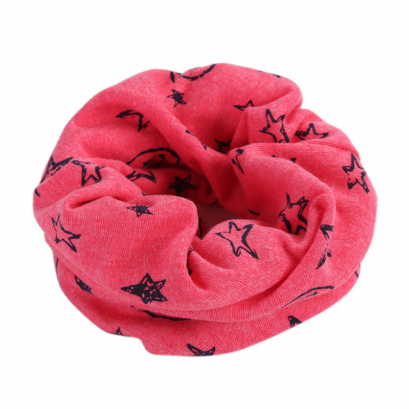 New Fashion Boys Girls Character Cotton Scarf Cute O Ring Warm Neckwear Children Neck Scarves With Stars& Smile Faces