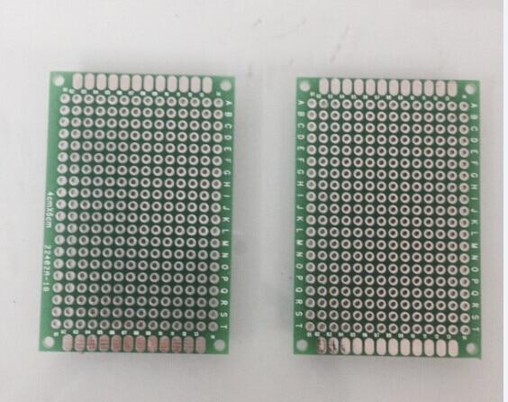 Wholesales 10pcs/lot 4x6cm Double Side FR4 Printed Circuit
