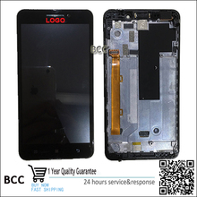 Original For lenovo A5000 LCD Digitizer Display Touch Screen Panel with frame free fast shipping Test