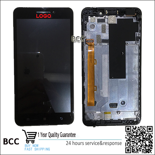 Original para lenovo a5000 digitalizador lcd display + touch screen panel con marco libre del envío rápido test ok!