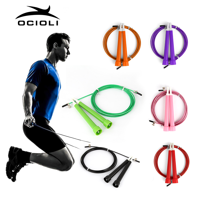 Jump Skipping Ropes Cable Steel Adjustable Fast Speed ABS Handle Jump Ropes Crossfit Training Boxing Sports Exercises