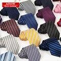 New fashion designer de alta qualidade Dos Homens de negócios casual gravatas 8 cm poliéster jacquard de seda gravata listrada 210 pçs/lote fedex