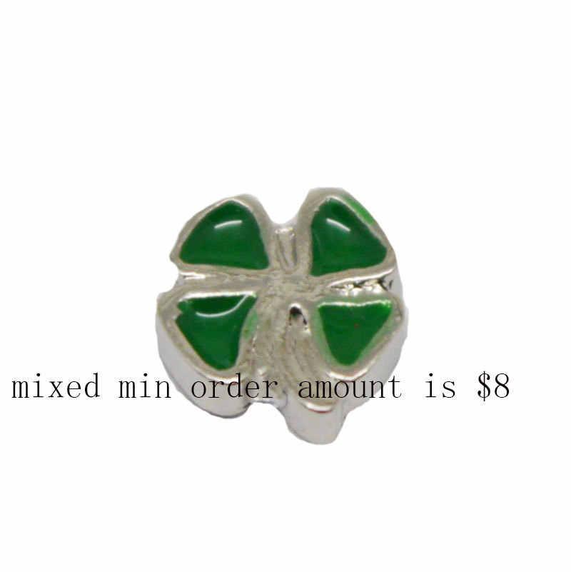 Perhiasan penjualan panas ultra-hak tinggi semanggi mengambang pesona 10 pcs untuk loket kaca, Ad-335