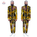 (Chaquetas + Pantalones) 2017 Nueva Impresión Africana Hombres Trajes Slim Fit Personalizado de Moda Trajes de Negocios Vestido de Boda Blazer Plus Size WYN255
