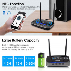 Image 3 - Adaptador de Audio inalámbrico con Bluetooth 5,0, receptor transmisor, RCA, NFC, aptX, HD, apt x, baja latencia, 262ft, largo alcance, para TV, PC, música de coche