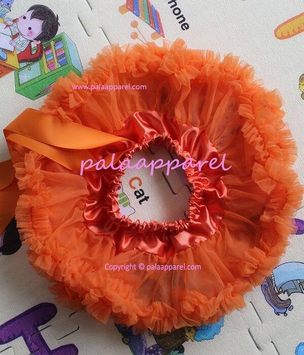 Пышная юбка для малышей Мягкая шифоновая Пышная юбка-пачка для малышей Юбка-пачка для маленьких девочек детская одежда юбка-пачка для новорожденных - Цвет: Оранжевый