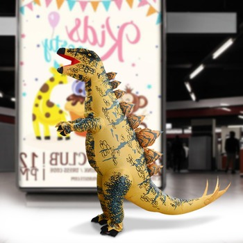 1.6-2.0M People Inflatable Costume Christmas Cosplay Stand Stegosaur Dinosaur Inflatable Costumes Party Dress Cosplay Suit Prop