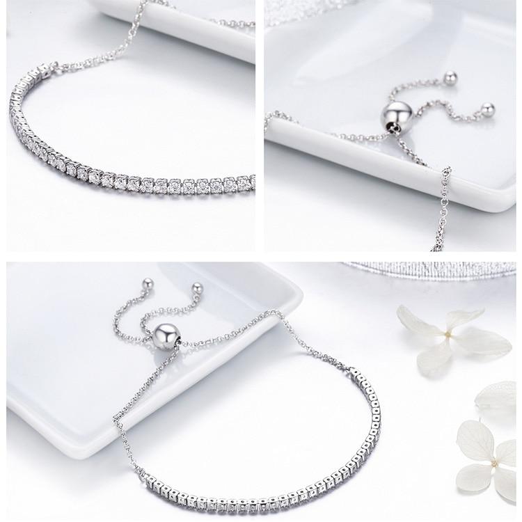 HTB1Ps4sgvBNTKJjSszcq6zO2VXab BAMOER Featured Brand DEALS 925 Sterling Silver Sparkling Strand Bracelet Women Link Tennis Bracelet Silver Jewelry SCB029