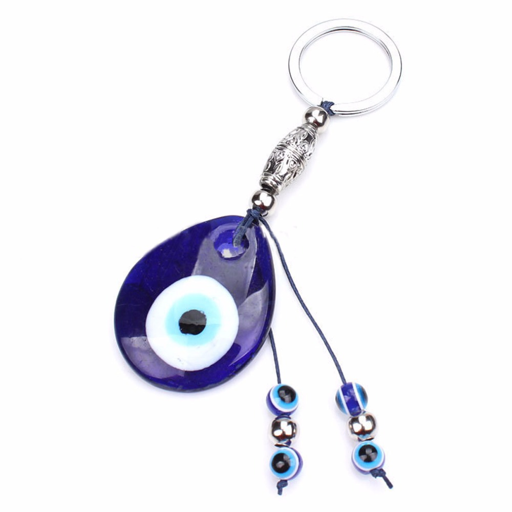 Fashion Blue Evil Eye U-type Car Bag Purse Pendant Metal Keychain For Woman Car Decoration Keyrings Key Chains Holder Wide Selection; Key Chains Jewelry Sets & More