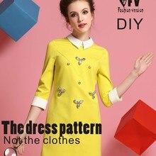 Платья шаблон для шитья резка рисунок одежды DIY(в продаже не одежда) BLQ-132