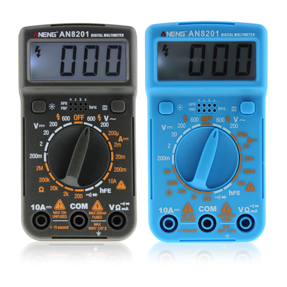 Portable LCD Digital Multimeter Professional Electric Handheld Tester Backlight AC/DC Voltmeter Ammeter Ohm multimetro AN8201