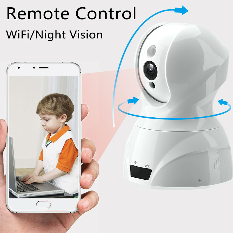 Buy Fujikam Wifi Camera IP Pan Tilt Night Vision HD 720P Video Baby Monitor Remote Home Security with Two way Audio App. MIPC buy monitor hood