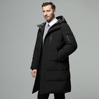 2018 Winter New brand Men's Hooded Park jacket Men's Long Thick Winter jacket Color Black / Gray / Green coffee color Size M 5XL