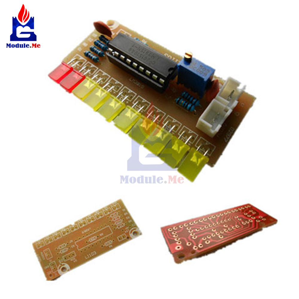 10-Band Audio Level Indicator Module LM3915 Funny Strip Dot Indicator Suit 9V-12V DC For Arduino Diy Kit Electronic PCB Board