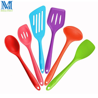 6pcs Non Stick Silicone Kitchen Tools Set Heat Resistant Cooking Utensil Set