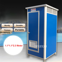 High Quality Mobile Toilet Commercial Toilet Portable Outdoor WC Toilet Washroom Color Steel Room Outhouse Toilet (1.1*1.1*2.3M)