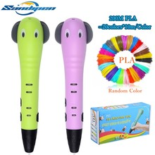 Sandipen 3D Pen Lovely Cartoon Drawing Creative Kids Toy Painting Education Gift Pencil P6506
