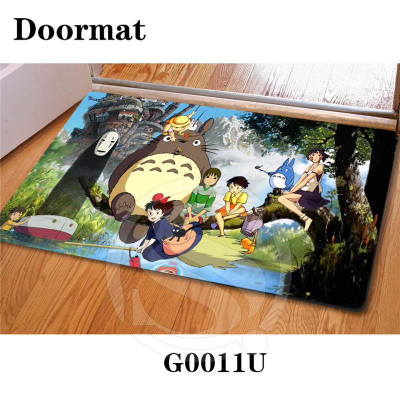 Free Shipping Custom ghibli Top Craft DoorMat Art Pattern Printed Carpet Floor Hall Bedroom Cool Pad Fashion Rug SQ0626