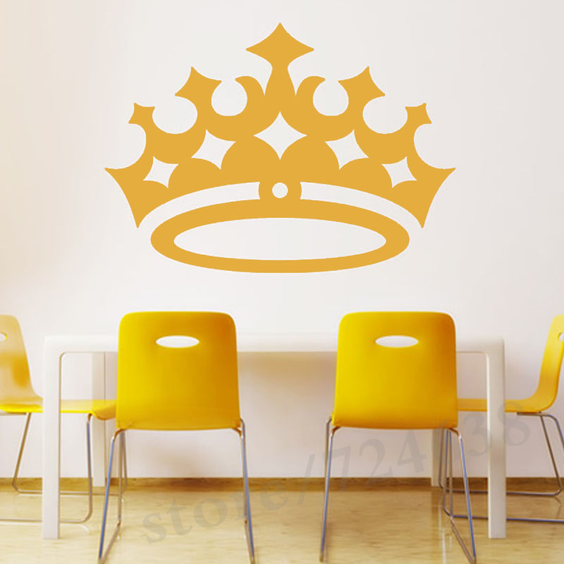 Kids Room Wall Sticker Waterproof Queen Crown Wall Decal Removable ...