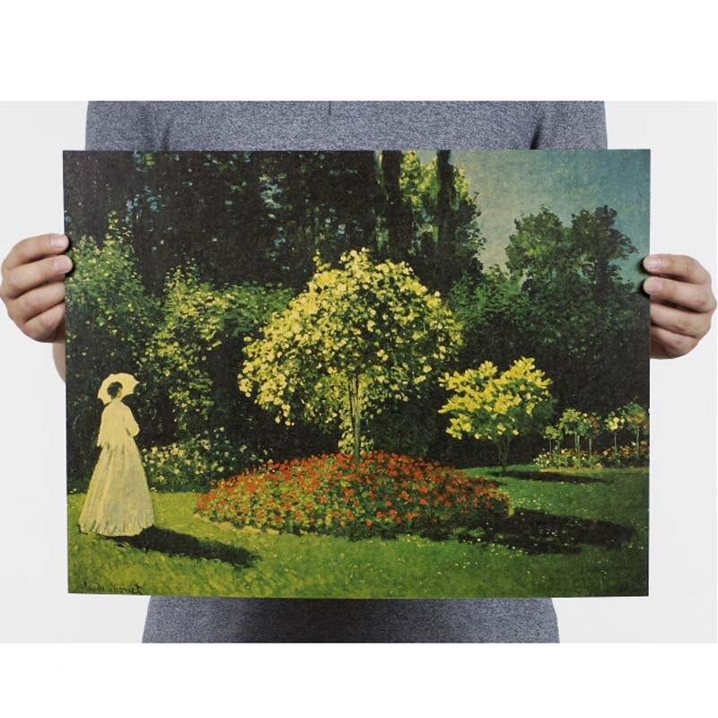 Ностальгия и ретро картина маслом ретро постер винтажный плакаты живопись Ретро плакат, крафт-бумага кафе домашний декор наклейка на стену - Цвет: 100