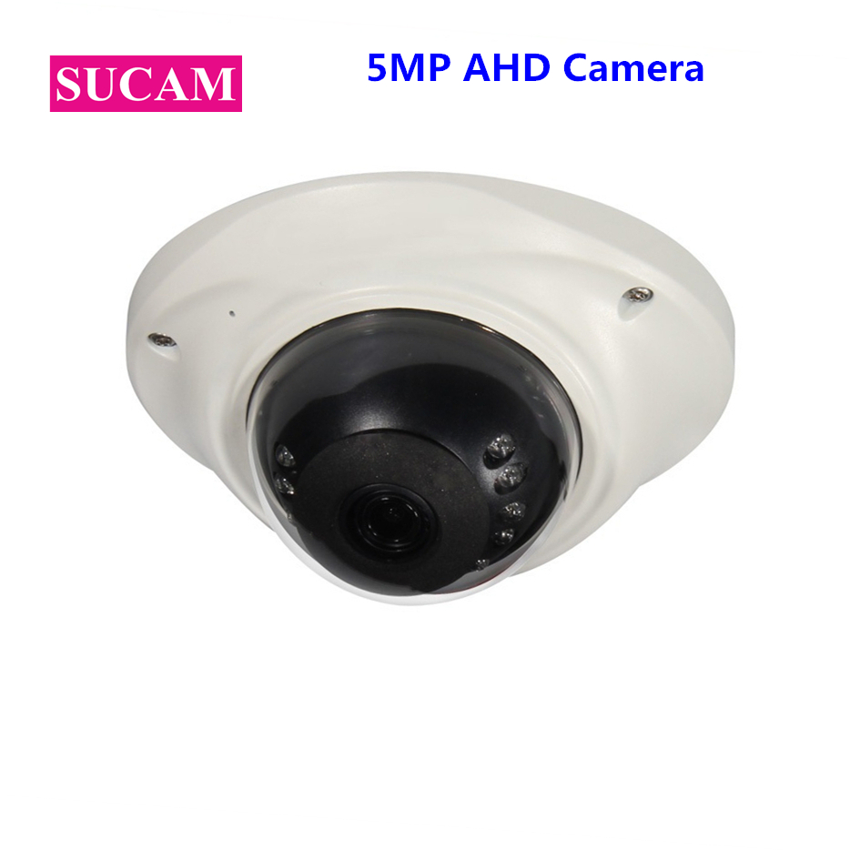 SUCAM Mini Fish Eye 5MP Camera AHD Sony 326 High Definition Infrared CMOS White Dome Security Analog CCTV Camera IR Cut sucam 5mp ahd cctv camera 180 degrees vision angle home security video surveillance dome infrared analog camera 25m ir distance