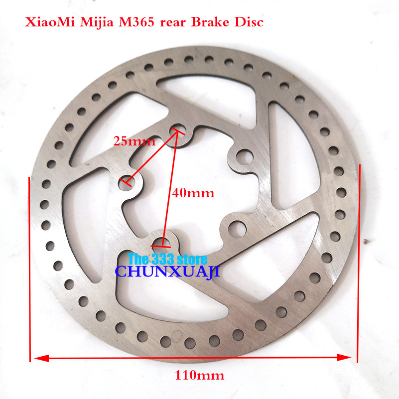 110 mm Rear Wheel Disc Brake Disc for Original Mijia M365 xiaomi Electric Scooter Replacement Parts