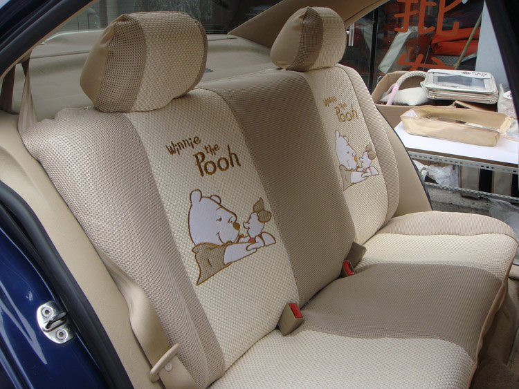 Winne The Pooh Auto Seat Cover Car Cushion Set With Steering Wheel 3 Colors Wholesale In Automobiles Covers From Motorcycles