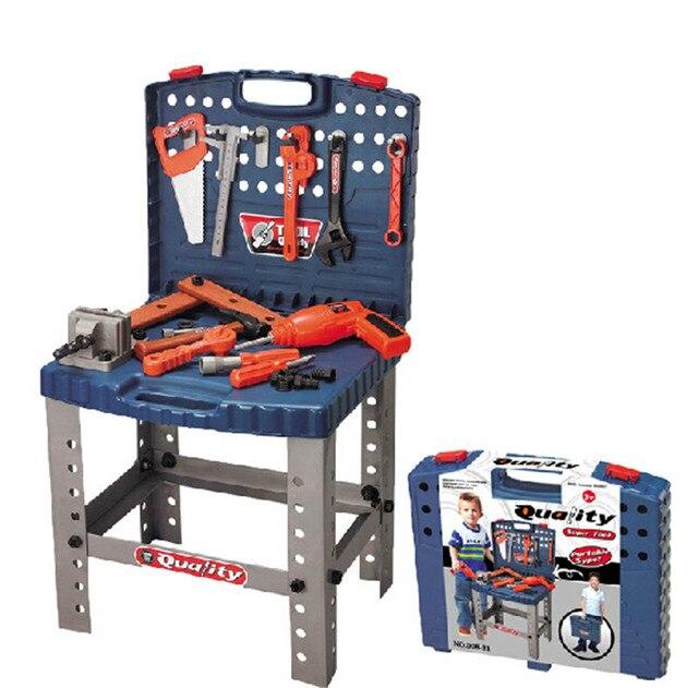 Новая детская Toolbox игрушка набор пластиковых инструменты плотника комплект набора Игрушки для мальчиков