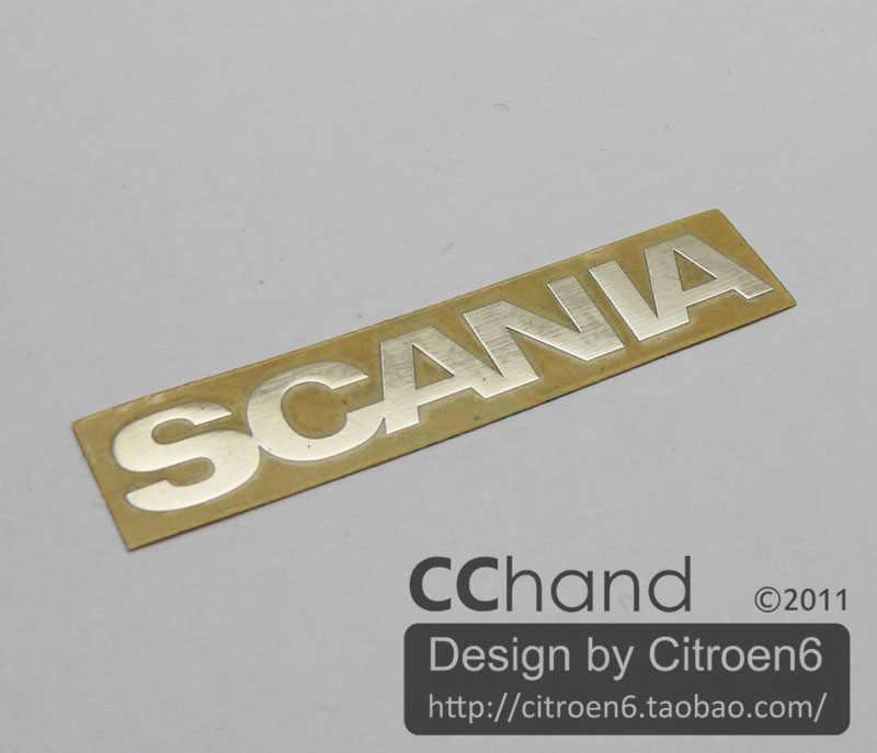 Cchand Logam Depan Grille Logo Tamiya Scania Semi Truk 1/14 RC Mobil Mainan