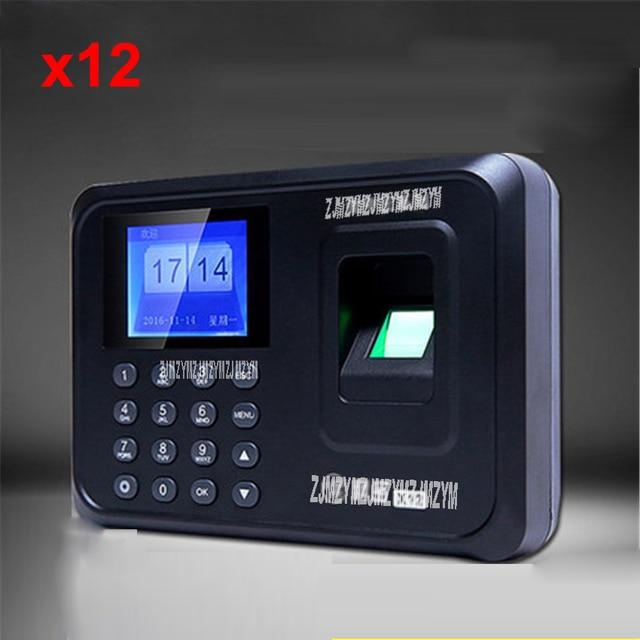 US $30 36 8% OFF X12 fingerprint attendance punch card machine fingerprint  to work fingerprint machine sign machine punch card machine 5v-in Time
