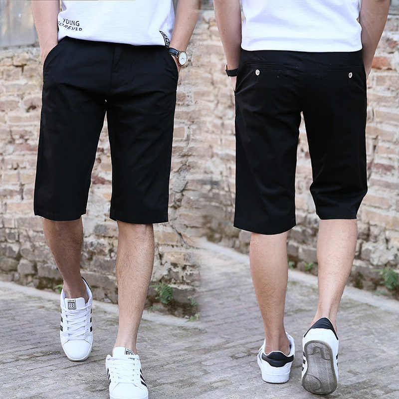 d57659ac87f0f ... Vomint 2019 Summer New Men's Basic Shorts Smart Casual Fashion Pockets  Solid Color Black Blue Khaki ...